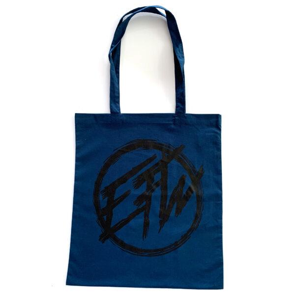 EFW Round Logo Tote Bag Blue