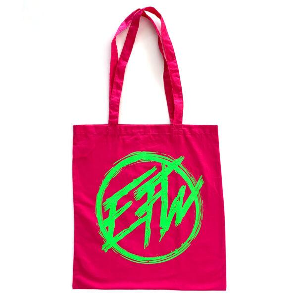 EFW Round Logo Tote Bag Pink